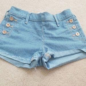 Girls Abercrombie striped sailor shorts